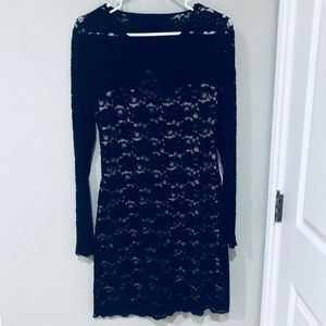 Black Lace Backless EXPRESS Dress
